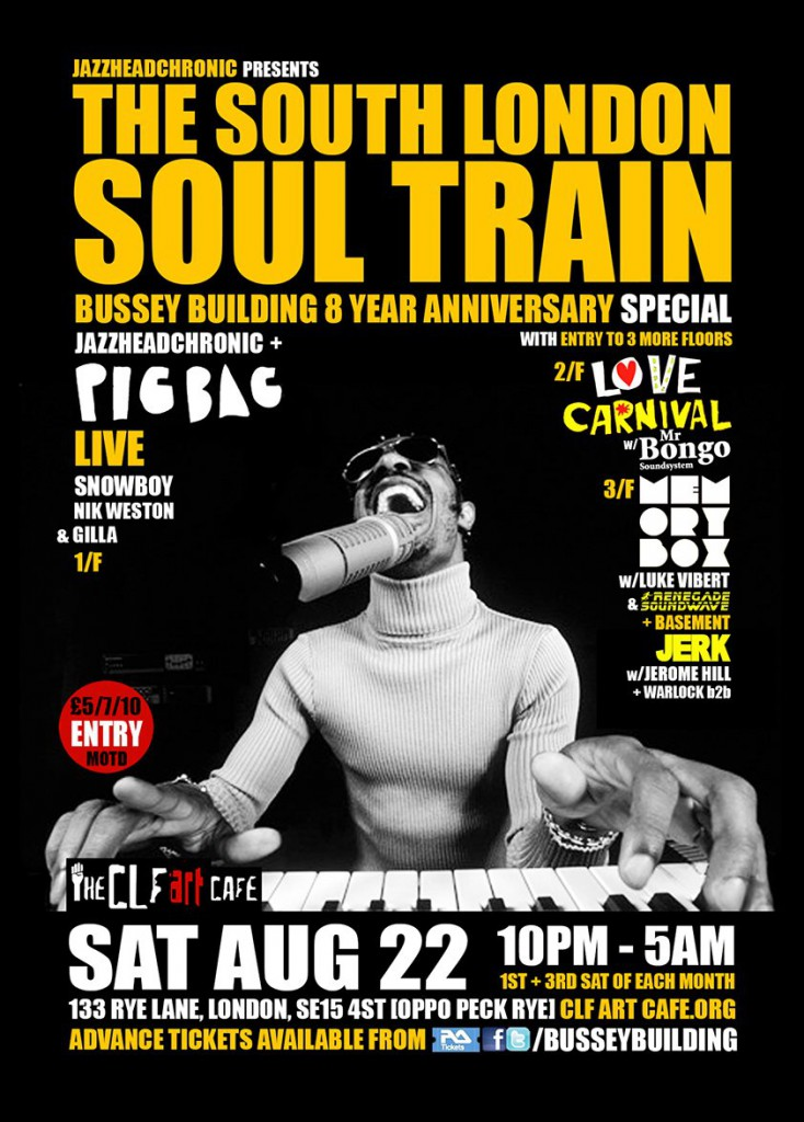 South London Soul Train flyer